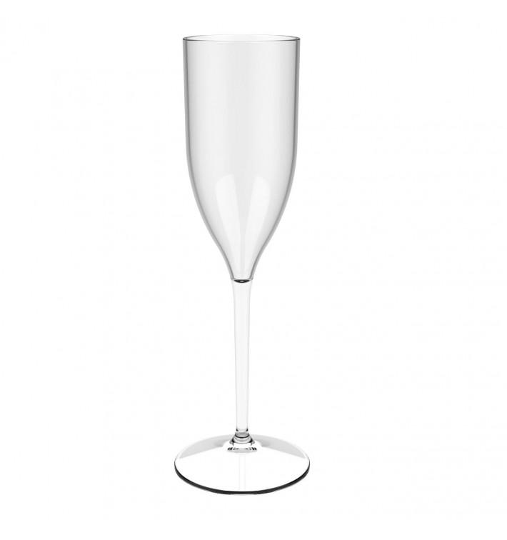 """Calice Flute Riutilizzabili Champagne """"Bio Based"""" Tritan 170ml (6 Pezzi)"""