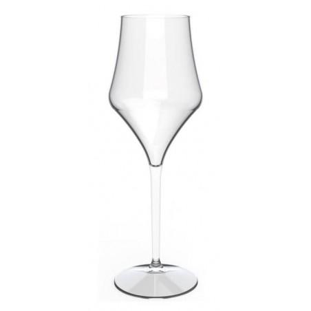 """Calice Riutilizzabili Vino """"Bio Based"""" Tritan Trasp. 475ml (6 Pezzi)"""