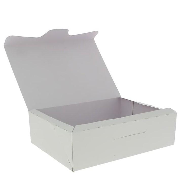 Scatola di Carta Pasticcerie 18,2x13,6x5,2cm 500g Bianco (250 Pezzi)