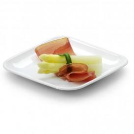 Mini Piatto Canna da Zucchero Quadrato Bianco 6,5x6,5cm (600 Pezzi)