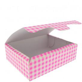 Scatola di Carta Pasticcerie 18,2x13,6x5,2cm 500g Rosa (25 Pezzi)