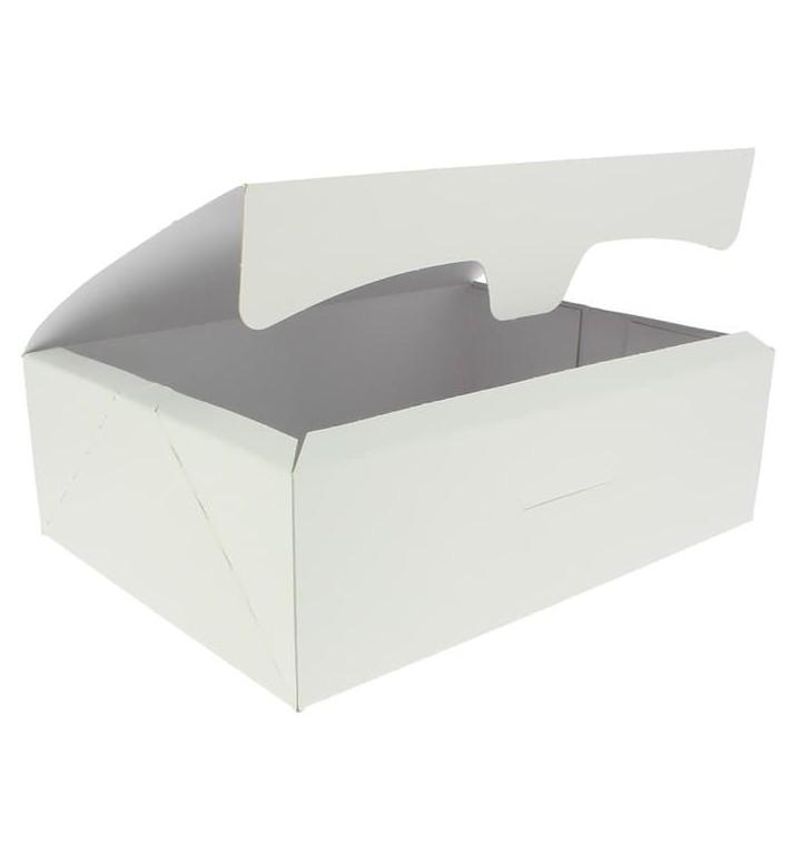 Scatola di Carta Pasticcerie 25,8x18,9x8cm 2Kg Bianco (125 Pezzi)