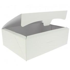 Scatola di Carta Pasticcerie 25,8x18,9x8cm 2Kg Bianco (25 Pezzi)