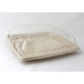 Vassoio Canna da Zucchero Quadrato Naturale 31x31cm (5 Pezzi)