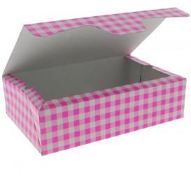 Scatola di Carta Pasticcerie 17,5x11,5x4,7cm 250g Rosa (20 Pezzi)