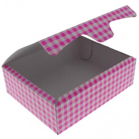 Scatola di Carta Pasticcerie 20,4x15,8x6cm 1kg Rosa (20 Pezzi)