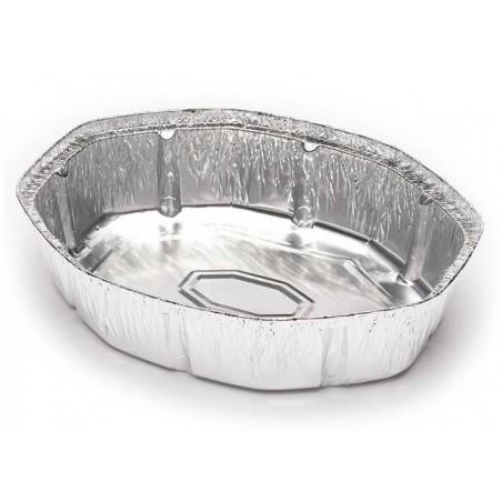 Contenitore in Alluminio 1900ml Ovali per Pollo (500 Pezzi)