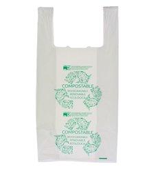 Sacchetto di Plastica Canottiera 100% Biodegradabile 40x50cm (100 Pezzi)