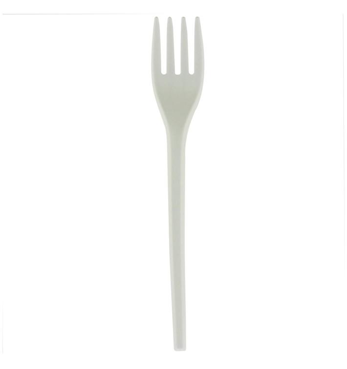 Forchetta Biodegradabile CPLA Bianco 165mm (50 Pezzi)