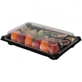 Imballaggi e Coperchio Sushi PLA Nero 13,0x18,0 cm (600 Pezzi)