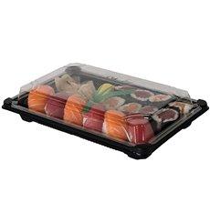 Imballaggi Sushi PLA Nero 13,0x18,0 cm (600 Pezzi)