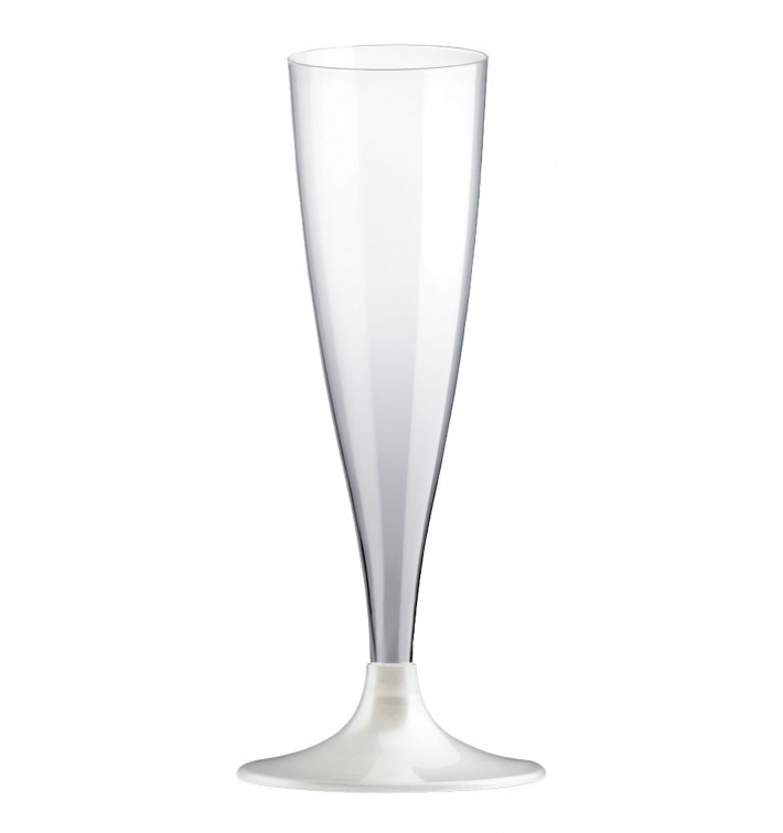 Calice Flute PLA Biodegradabile Trasparente 140ml 2P (20 Pezzi)