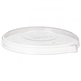 Coperchio Compostabile PLA Trasparente Ciotola 355,470ml (50 Pezzi)