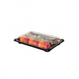 Imballaggi e Coperchio Sushi PLA Nero 15,0x23,0 cm (100 Pezzi)
