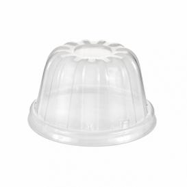 Coperchio Alto di Plastica PS Trasparente Ø8,9cm (50 Pezzi)