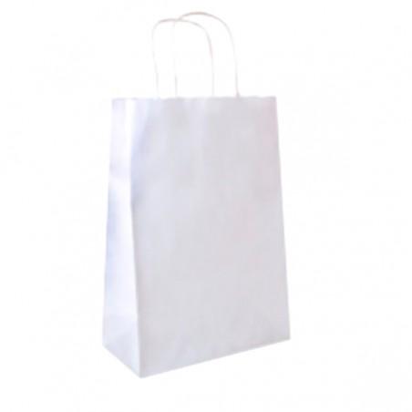 Buste Shopper in Carta Bianca 80g 26+14x32 cm (50 Pezzi)