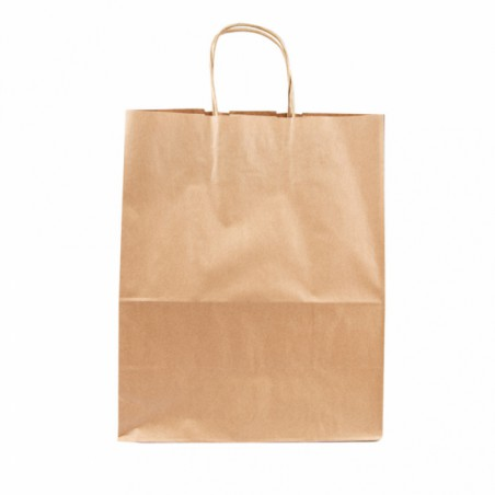 Buste Shopper in Carta Marrone 80g 26+14x32 cm (250 Pezzi)