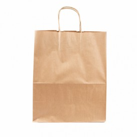 Buste Shopper in Carta Marrone 80g 26+14x32 cm (50 Pezzi)
