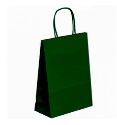 Buste Shopper in Carta Verde 80g 20+10x29 cm (250 Pezzi)