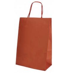 Buste Shopper in Carta Rosso 80g 20+10x29 cm (250 Pezzi)