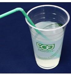 """Bicchiere Amido di Mais PLA """"Green Stripe"""" 470ml (1.000 pezzi)"""