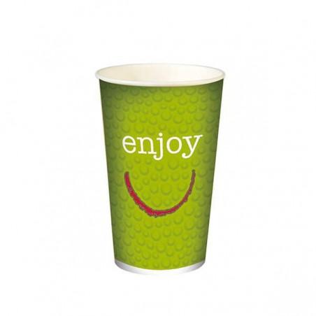 """Bicchiere di carta per bevanda fredda 32 Oz/1000ml """"Enjoy""""  (50 Uds)"""