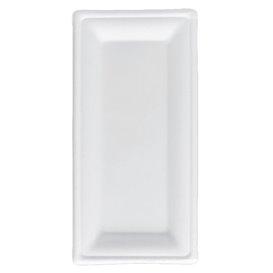Vassoi Canna da Zucchero Bagassa Bianco 25,5x12,7 cm (50 Pezzi)