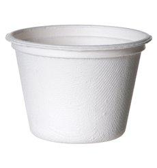 Coppetta Canna Zucchero Bagassa Bianco 120ml (50 Pezzi)