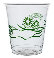 "Bicchiere PLA ""Green Spirit"" Trasparente 250ml (50 pezzi)"