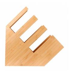 Organizzato Bicchiere, Caccunne e Coperchio di Bambù 14x50x50cm (1 Pezzo)