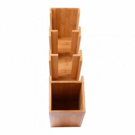 Distributore di bicchieri, Caccunne e Coperchio di Bambù 14x50x50cm (1 Pezzo)