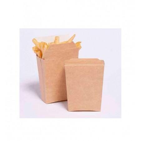 Envase Kraft Cerrado para Fritas (25 Unidades)