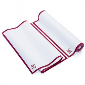 """Panno in Rotolo """"Roll Drap"""" Orlo Bordeaux 40x64cm P64cm (10 Pezzi)"""
