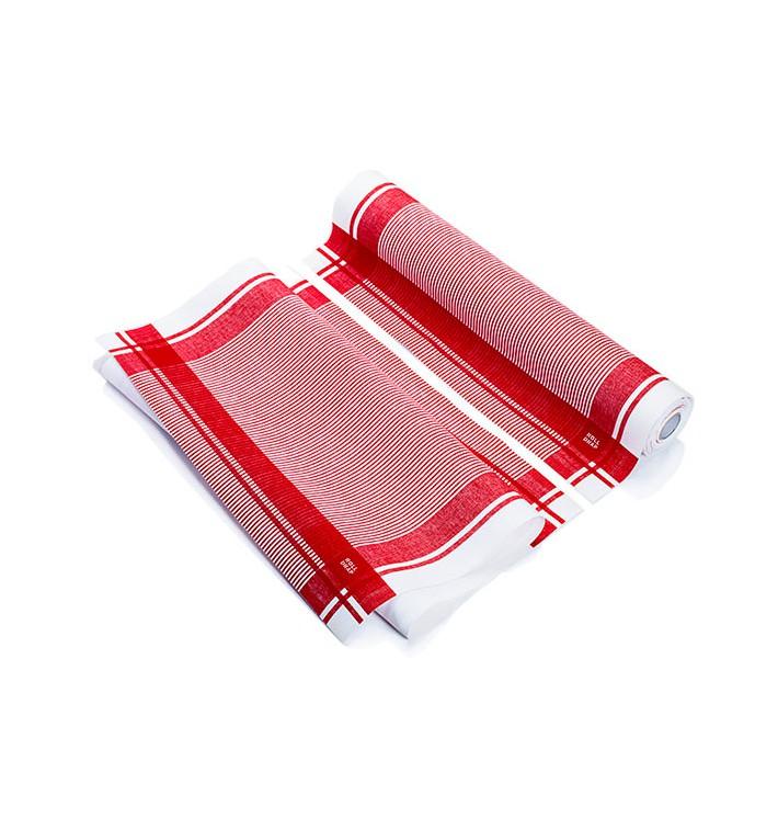 """Panno in Rotolo """"Roll Drap"""" Vintage Rosso 40x64cm P64cm (10 Pezzi)"""
