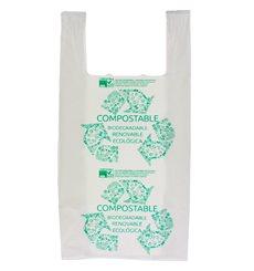 Sacchetto di Plastica Canottiera 100% Biodegradabile 40x50cm (1800 Pezzi)