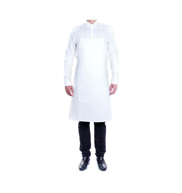 Grembiule Pettorine Bianco 75x90cm (20 Pezzi)