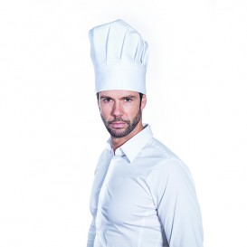Cappello Cuoco Chef Cotone Bianco (25 Pezzi)