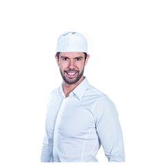 Cappello Cuoco Retina Cotone Bianco (25 Pezzi)