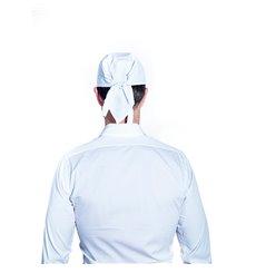 Cappello Cuoca Pirata Cotone Bianco (25 Pezzi)