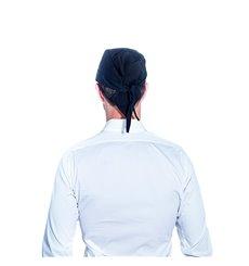 Cappello Cuoca Retina e Visiera Cotone Bianco (1 Pezzi)