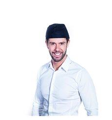 Cappello Cuoca Retina e Visiera Cotone Bianco (25 Pezzi)