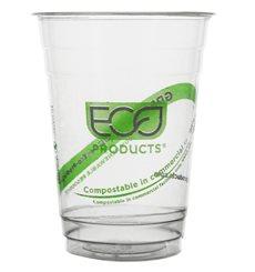 """Bicchiere Amido di Mais PLA """"Green Stripe"""" 470ml (50 pezzi)"""