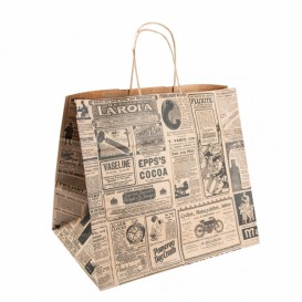 Buste Shopper in Carta Kraft Times 80g 24+14x32cm (50 Pezzi)