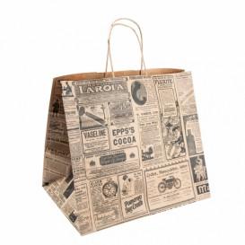 Buste Shopper in Carta Kraft Times 80g 24+14x32cm (250 Pezzi)