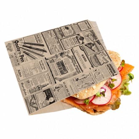 Sacchetto Antigrasso Kraft Giornali 16x16,5cm (500 Pezzi)