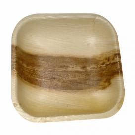 Mini Piatti Quadrati in Foglia di Palma 11,5x11,5x1,5cm (200 Pezzi)