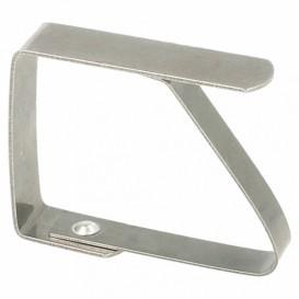 Pinze di Metallo per Tovaglia (144 Pezzi)