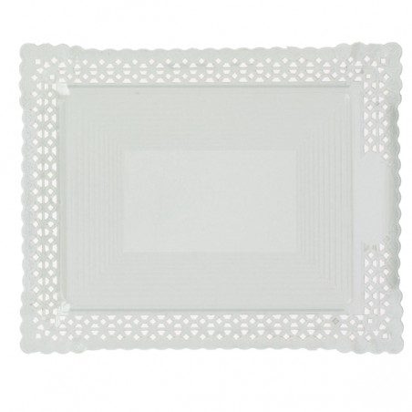 Vassoio di Carta Centrino Bianco 22x27 cm (50 Pezzi)