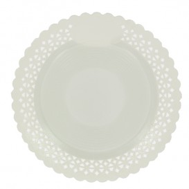 Piatto di Carta Tondo Centrino Bianco 38 cm (50 Pezzi)