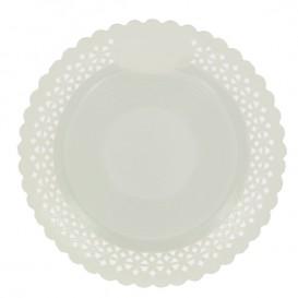 Piatto di Carta Tondo Centrino Bianco 25 cm (100 Pezzi)